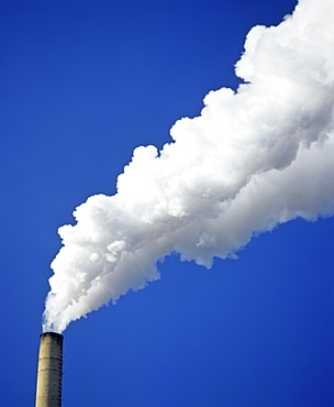 Factory smoke stack, pollution