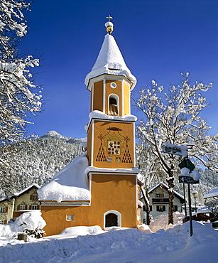 Sebastianskirche Church, Partenkirchen, Werdenfels, Upper Bavaria, Bavaria, Germany