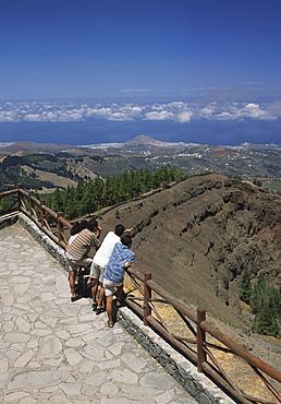 View from the mirador Riso Prieto on a vulcano, Gran Canaria, Canary Islands, Spain