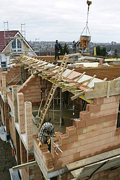 Concrete construction, Essen, North Rhine-Westphalia, Germany