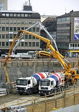 Construction site, Essen, North Rhine-Westphalia, Germany