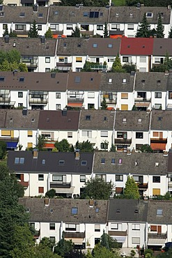 Housing estate with terrace houses, Cologne, North Rhine-Westphalia, Germany