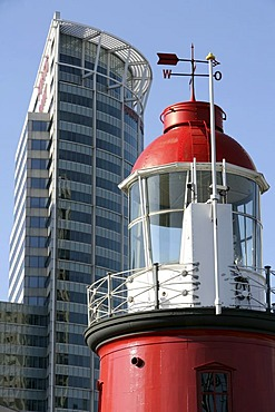 Open Air Maritime Museum at the Leuvehaven with light house, Rotterdam, Netherlands