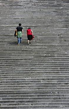 ITA, Italy, Rome : Stair at Capitol hill, to the Santa Maria in Aracoeli church. |