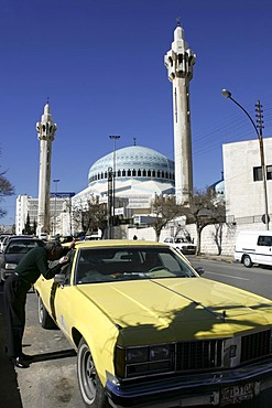 King Abdullah Mosque, in the Al-Abdali district, Amman, Jordan
