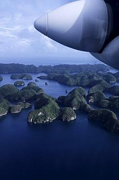 Rock Islands, flight over islands, Palau, Micronesia