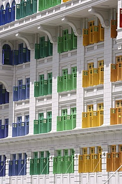 SGP Singapore: Ministry of Information Communication an the Arts MICA. Coloured window shutter. |