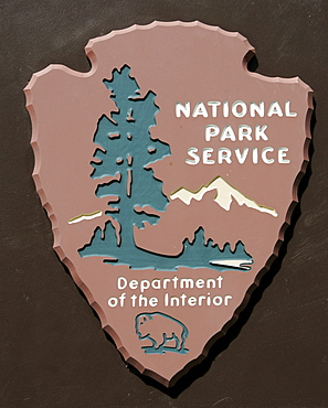 US National Park Service sign, Washington, USA, North America