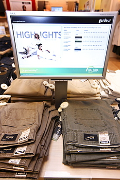 RFID, Radio-frequency identification, clothing tags, Galeria Kaufhof department store, Essen, North Rhine-Westphalia, Germany