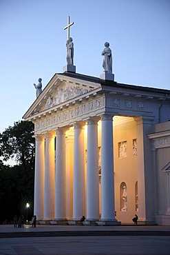 St. Stanislaus Cathedral on Cathedral Square, Vilnius, Lithuania, Baltic States, Northeastern Europe