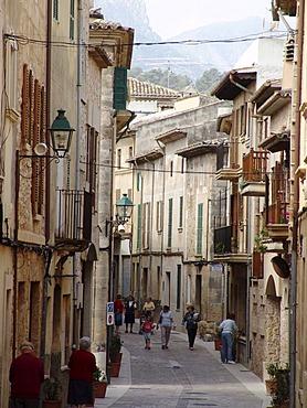 ESP, Spain, Balearic Islands, Mallorca, Pollenca : Old town