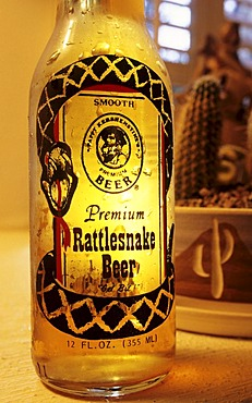 USA, United States of America, Arizona: Rattlesnake Beer brand in Arizona.