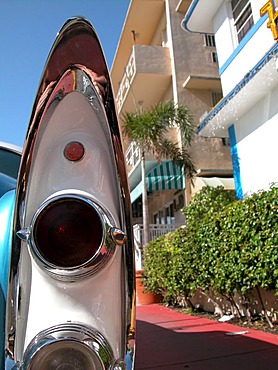 USA, Florida, Miami Beach: Streetrod's sharkfin in the Art Deco District, Miami Beach.