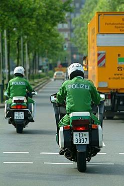 DEU, Germany, Duesseldorf : Police bike patrol.