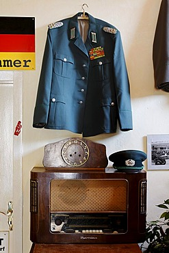 East German memorabilia as decoration in the ostalgie tavern Zur Molle, Seebad Bansin, Usedom Island, Mecklenburg-Western Pomerania, Germany, Europe