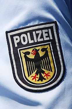 Police insignia on a shirt