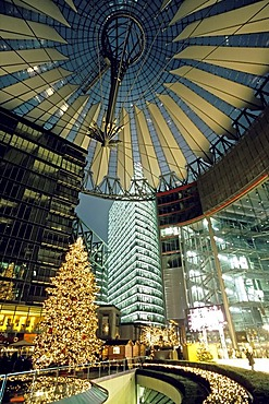 Sony Center at christmas, Potsdamer Platz, Berlin, Germany