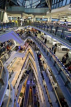 View into the modern shopping mall sevens, Koenigsalle, Duesseldorf, NRW, Germany