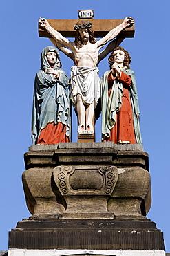 Historic crucifixion group, Trier, Rhineland-Palatinate, Germany