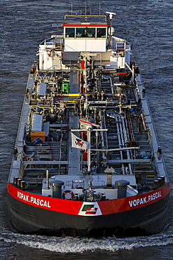 Oil vessel Vopak Pascal, Rhine harbour Duisburg, NRW, Germany