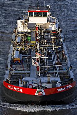 Oil vessel Vopak Pascal, Rhine harbour Duisburg, NRW, Germany