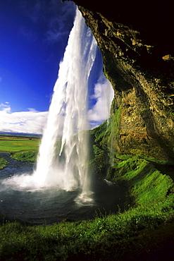 Seljalandsfoss Waterfall, Iceland, Atlantic Ocean