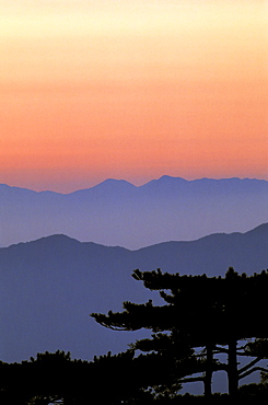 "Sunrise at ""Beginning-to-Believe Peak, "" Huangshan, Anhui, China, Asia"