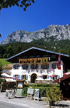 Alpenhof Restaurant, Hintersee Lake, Ramsau, Berchtesgadener Land, Bavaria, Germany