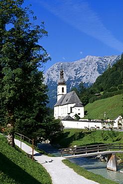 St. Fabian and Sebastian Church, Ramsau, Berchtesgadener Land, Bavaria, Germany