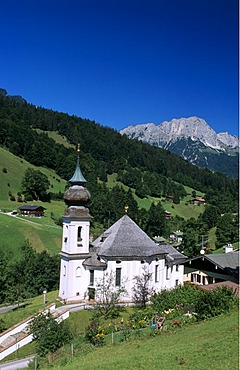 Maria Gern Pilgrimage Church, Untersberg, Kneifelspitze Mountain, Berchtesgadener Land district, Bavaria, Germany, Europe