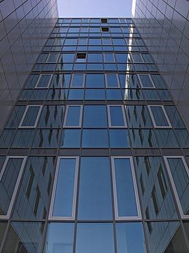 Front of a modern office building at Hamburger Hafencity, Hamburg, Germany