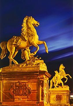 Rossebandiger (horse sculpture), Schwerin Castle, Mecklenburg-Western Pomerania, Germany