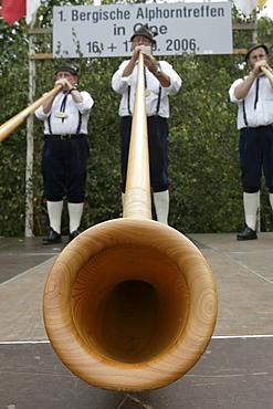 Fair, alpenhorn meeting, Kuerten-Olpe, North Rhine-Westphalia, Germany