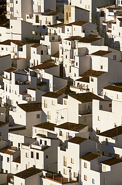White buildings of Casares, Malaga Province, Andalusia, Spain