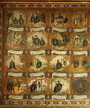 Votive pictures in the Maria unter der Egg Pilgrimage Church, Peiting, Pfaffenwinkel, Upper Bavaria, Germany, Europe