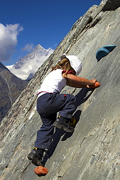 Climbing child