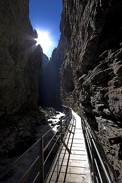 Grindelwald glacier canyon, Bernese Oberland, Berne, Switzerland