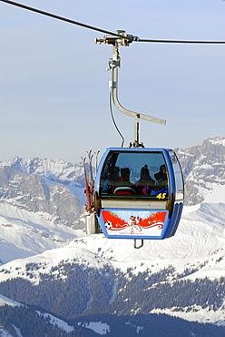 Ski-lift on the top of Parsenn - Davos, Canton of Graubuenden, Switzerland, Europe.