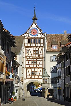 Gate, Stein am Rhein, Schaffhausen Canton, Switzerland, Europe