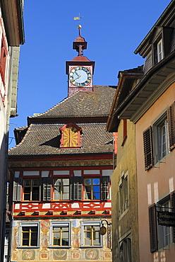 Town hall in Stein am Rhein, Schaffhausen Canton, Switzerland, Europe