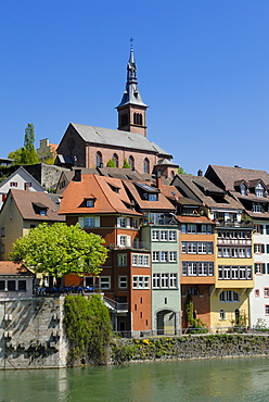 Historic centre of Laufenburg on the Rhine River, Baden-Wuerttemberg, Germany, Europe