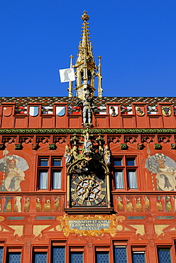 Detail, Town Hall, Basel, Canton of Baselstadt, Switzerland, Europe