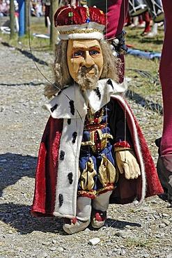 Little marionette king , knight festival Kaltenberger Ritterspiele, Kaltenberg, Upper Bavaria, Germany