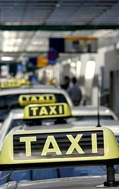 Taxi at the Frankfurt Airport, Hessen, Deutschland.