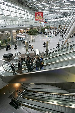 Air terminal of the airport from Duesseldorf, Nordrhein-Westfalen, Germany,