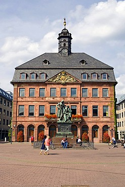 The Neustaedter town hall at the market square in Hanau, Hesse, Germany
