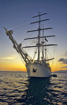 Three-mast sailing ship Amorina, Red Sea