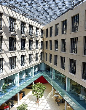 Offices surrounding a covered courtyard, Offenbach, Hesse Germany, Europe