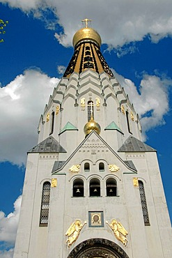 1813 set up the Battle of the Nations the Russian memory church in Leipzig, for the memory the fallen at Leipzig, Germany