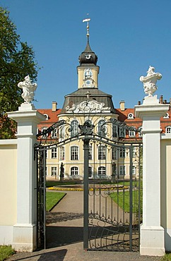 The Gohliser Schloesschen in Leipzig, Germany, builds in the Rococo period style